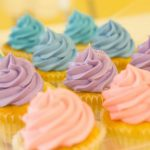 Image of Blue, Purple, and Pink Cupcakes