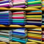 Image of colorful fabrics on sale