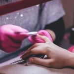 Image of Close-up of Woman Having Manicure