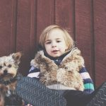 Image of Child Dog Pet Canine Puppy Childhood Kid Happy