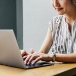 Image of Woman Using Laptop